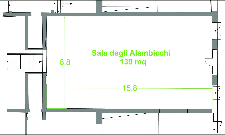 Sala degli alambicchi aurum for Planimetrie della fattoria contemporanea